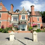 Photo of the front of the Coed-Y-Mwstwr Hotel