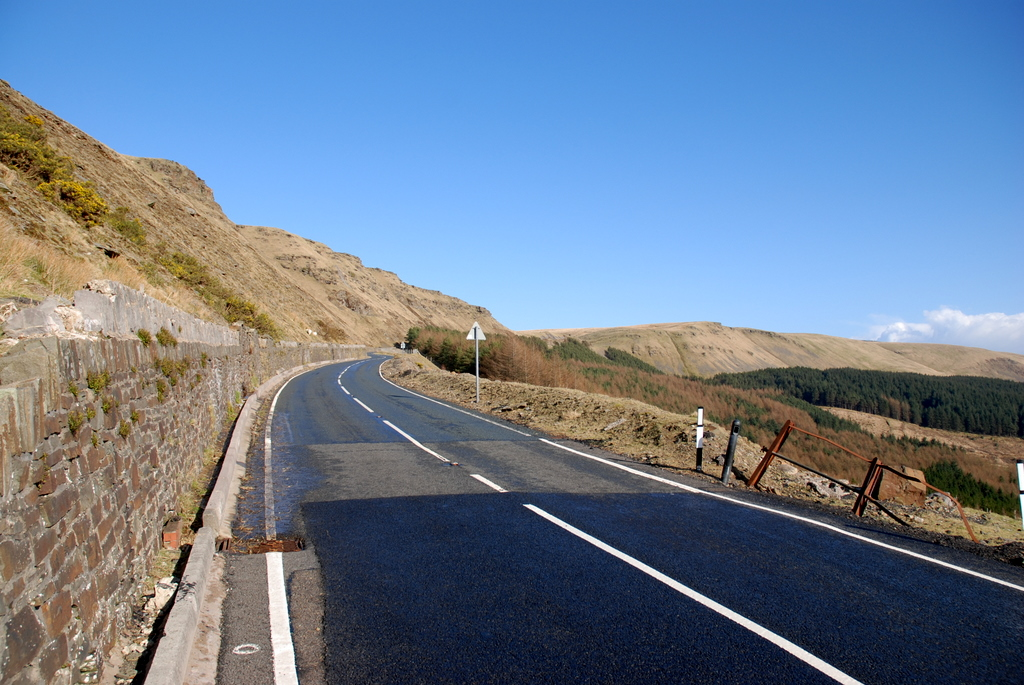 View up the Bwlch