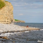 View east along the cliffs at Llantwit Major