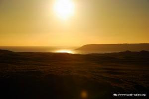 View across Three Cliffs Bay, Gower