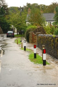 Flooding in Sigginstone, South Wales