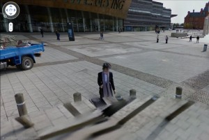 Google Street View Cardiff Bay Ghost