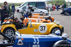 Caterhams at Llandow Race Circuit