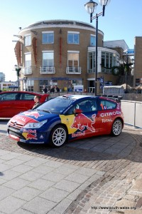 Sébastien Loeb's Citroen Rally car