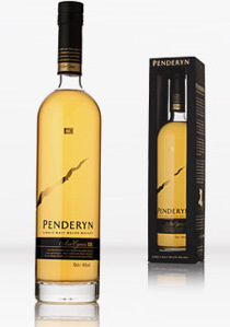 View of Penderyn Whisky bottle