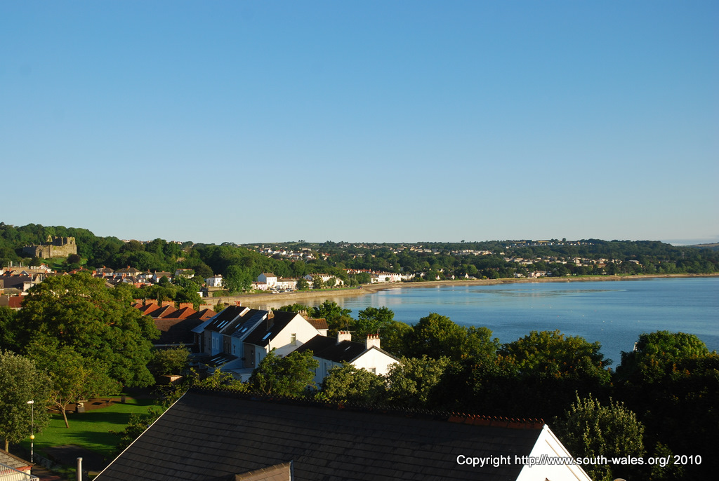 View of Mumbles village and Swansea Bay