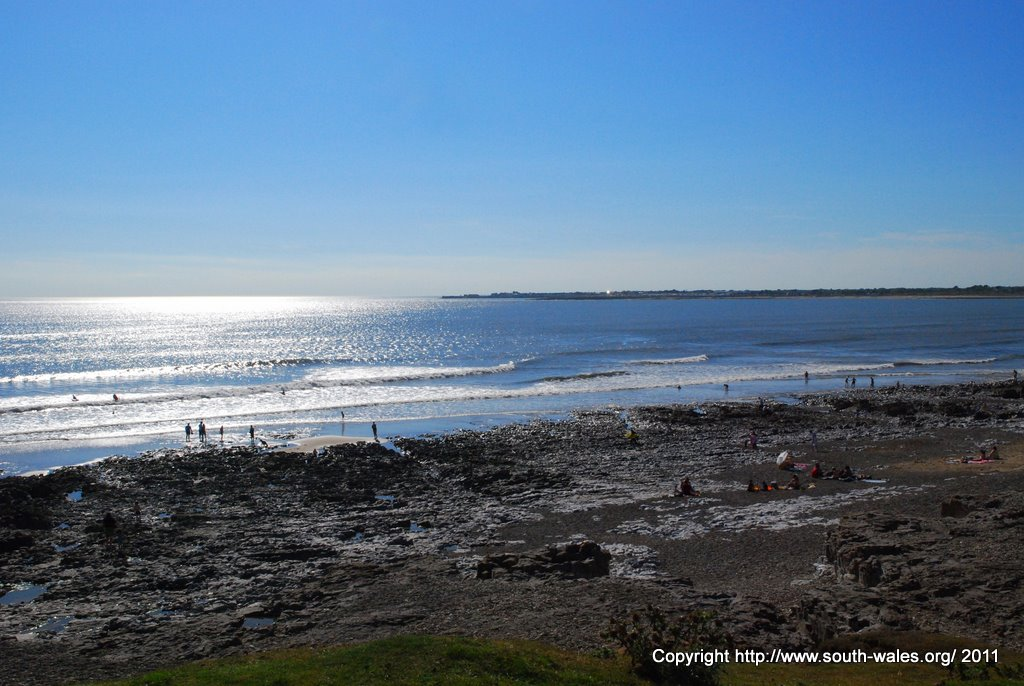 Ogmore Beach and the view across to Porthcawl
