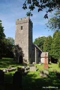 View of St Illtud's Church, Llantrithyd