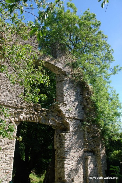 View of the derelict Llantrithyd Place
