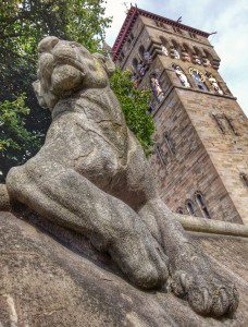 The lioness watches over Cardiff Castle