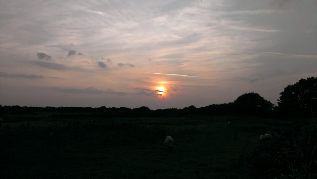 Sunset over the Vale of Glamorgan