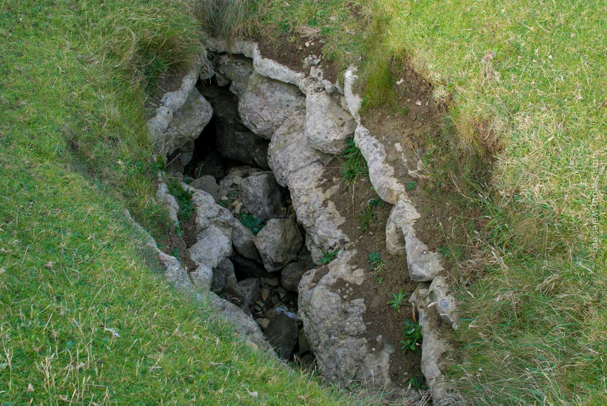 Blow-hole on coastal path at Ogmore