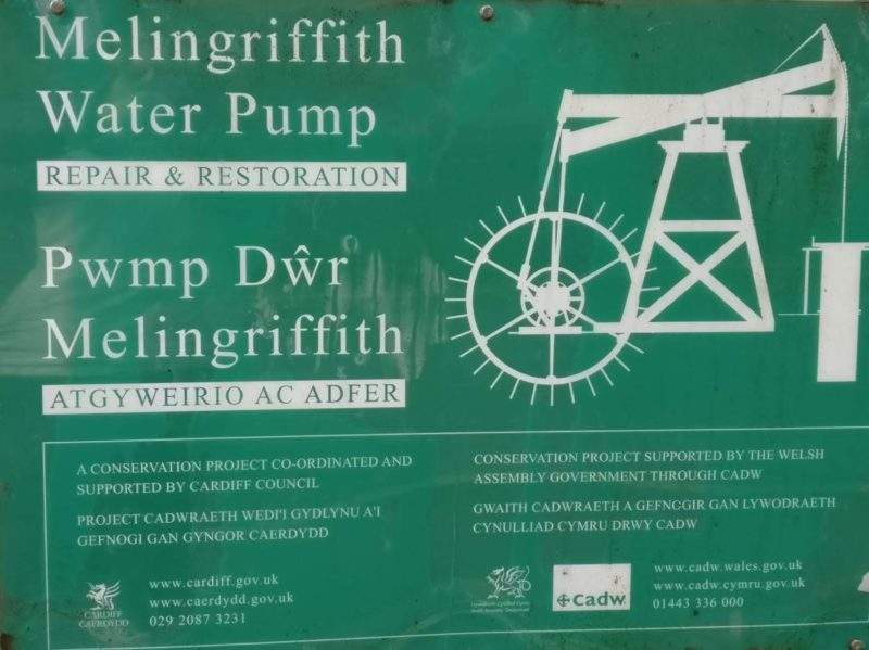 Melingriffith Water Pump sign